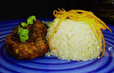 Thai Tempeh Croquettes with Cilantro Quinoa