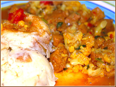 Curry with Creamy Mashed Potatoes