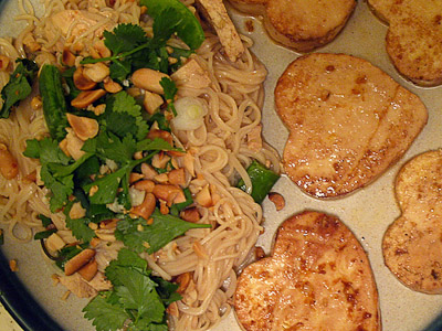 Valentine's Tofu and Noodles