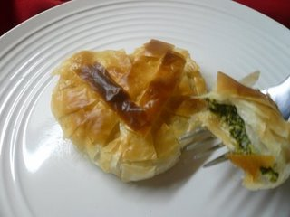 Heart Shaped Spanakopita