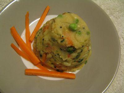 Upma / Spicy Semolina with Mixed Vegetables