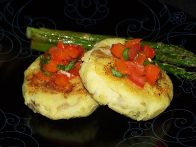 Potato Bruschetta Cakes