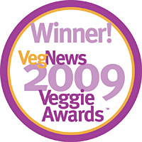 Winner Favorite Blog 2009 Veggie Awards
