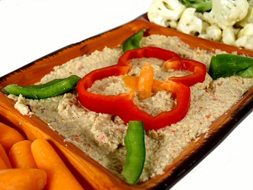 Artichoke Hearts and Roasted Red Pepper Dip