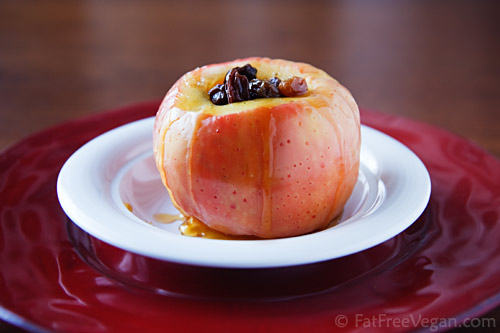 Microwaved Baked Apple