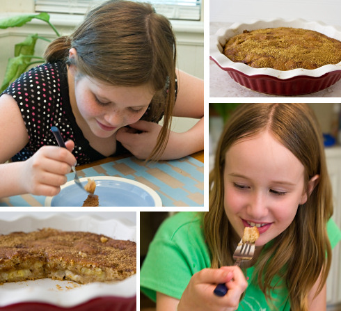 Kids Love Banana Coffee Cake!