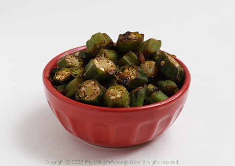 Bhindi Masala or Dry-Fried Okra