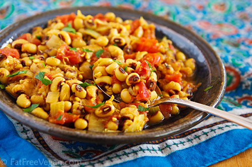 Black eyed pea masala recipe from fatfree vegan kitchen black eyed pea masala forumfinder Image collections