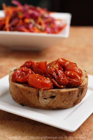 Bruschetta with Roasted Tomatoes