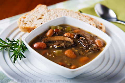 Butter Bean Soup with Portobellas and Wild Rice