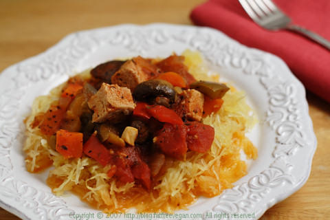 Tofu and Vegetable Cacciatore