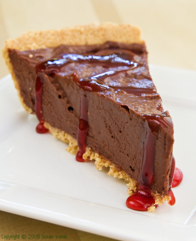 Vegan Cherry-Chocolate Mousse Pie