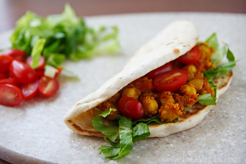 Ridiculously Easy Curried Chickpeas and Quinoa