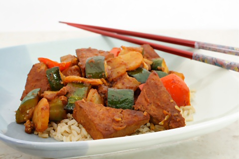 Chinese Barbecue Tofu and Vegetables