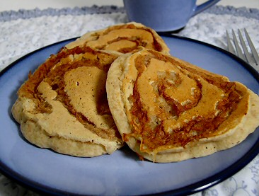 Cinnamon-Apple Swirl Pancakes