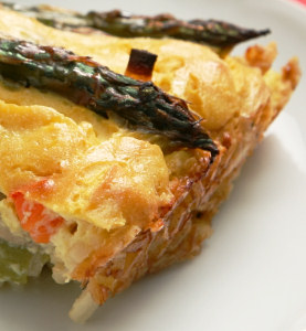 Vegan Quiche with a Brown Rice Crust