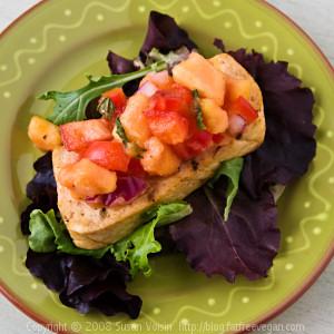 Cumin-Grilled Tofu with Papaya Salsa