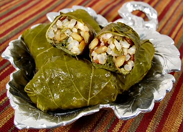 Grape Leaves Stuffed With Lentils And Rice Fatfree Vegan Kitchen