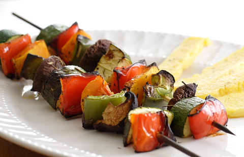 Grilled Vegetables and Polenta