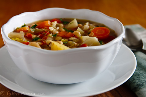 Irish White Bean and Cabbage Stew | Recipe from FatFree Vegan Kitchen