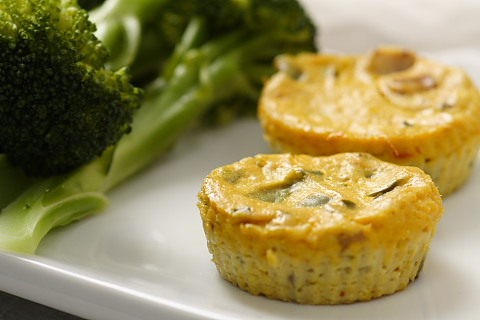 Mini Crustless Tofu Quiches | Recipe from FatFree Vegan Kitchen