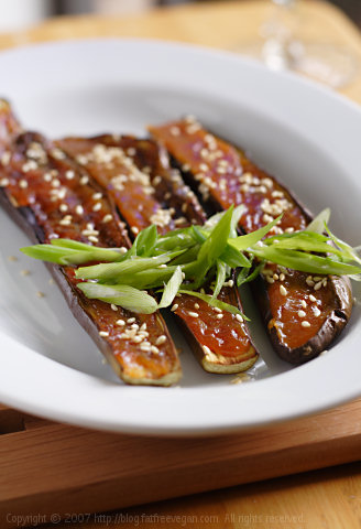 Eggplants Broiled with Miso