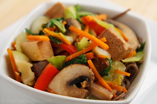 NYAM!: Kylie Kwong : Stir-fried Tofu with Vegetables