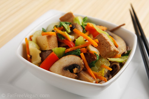 Stir-fried Tofu and Vegetables with Miso Sauce | Recipe from FatFree ...