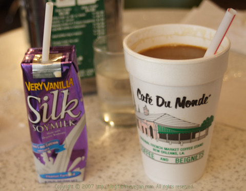Cafe Du Monde meets Silk Soy Milk
