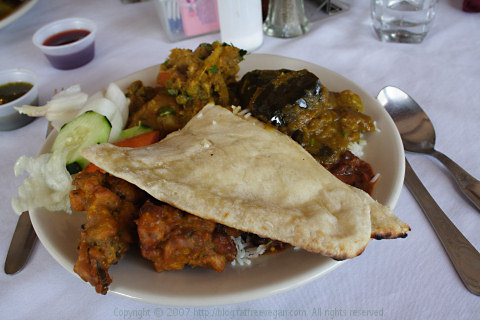 Plate of food at Tandoori Chicken, New Orleans