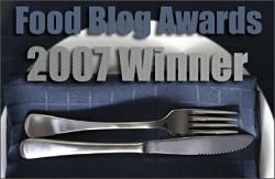 2007 Food Blog Awards Winner