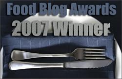 2007 Food Blog Awards Winner