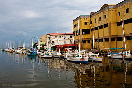 Boats by Swing Bridge, Belize City