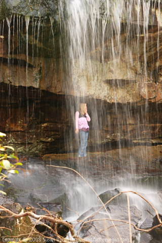 E Under Waterfall