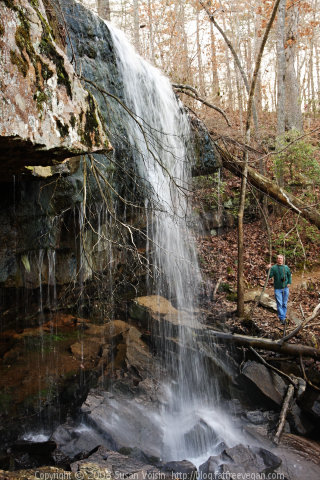 Waterfall at DeSoto State Park Alabama