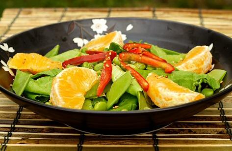 Orange and Edamame Salad