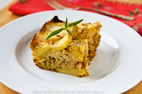 Golden Potato and Tempeh Casserole