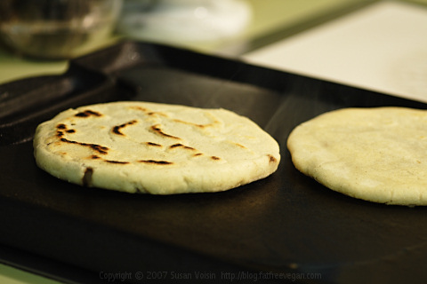 Pupusas on Griddle
