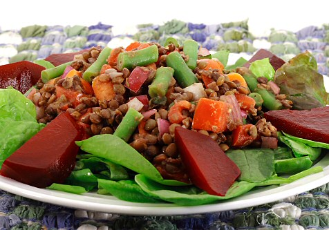 Puy Lentil Salad with Roasted Beets