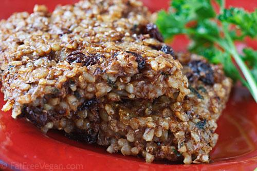 Spiced Rice-Lentil Squares