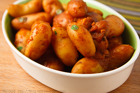 Fingerling Potatoes Braised with Smoked Paprika | recipe from FatFree Vegan Kitchen