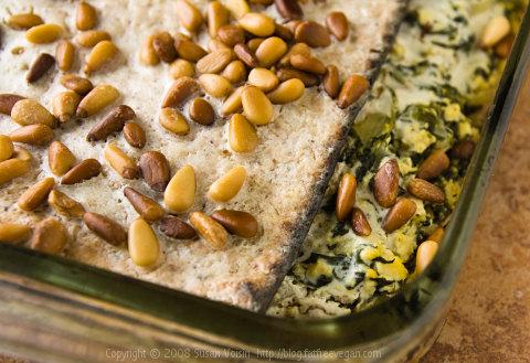 Vegan Spinach-Matzo Pie