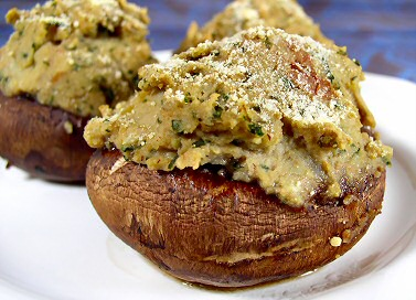 Portabellas Stuffed with Pesto-Mashed Potatoes