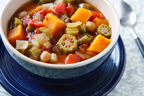 Sweet Potato, Okra, and Chickpea Gumbo