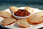 Thumbnail image for Easy Apple Pie Wontons and Peach Chutney