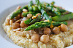 Polenta with Lemony Asparagus and Chickpeas