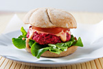 Roasted Beet-Tofu Burger
