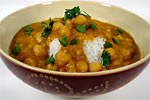 Thumbnail image for Chickpeas and Barley in Red Lentil and Eggplant Sauce