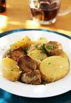 Dublin Coddle with Vegan Irish Sausages