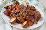 Thumbnail image for Vegan Corned Beef and Cabbage, Roasted Potatoes, and Soda Bread